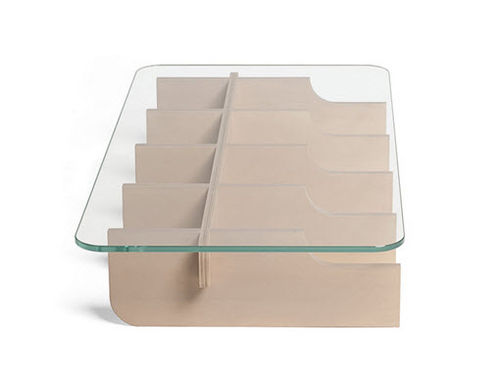 contemporary glass coffee table ASAP TABLE by  JEAN MARIE MASSAUD SKITSCH