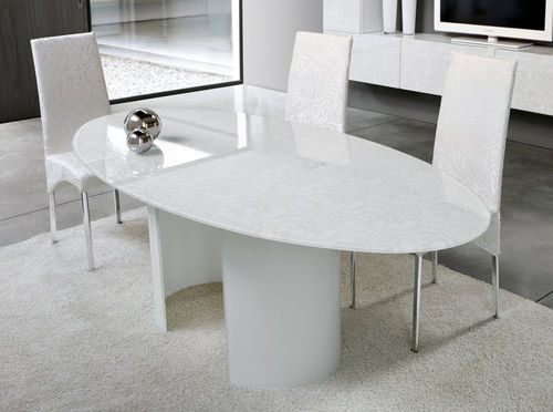 contemporary glass dining table BEA unico italia