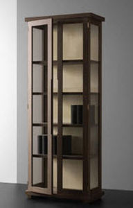 contemporary glass front bookcase ARSENE PHILIPPE HUREL