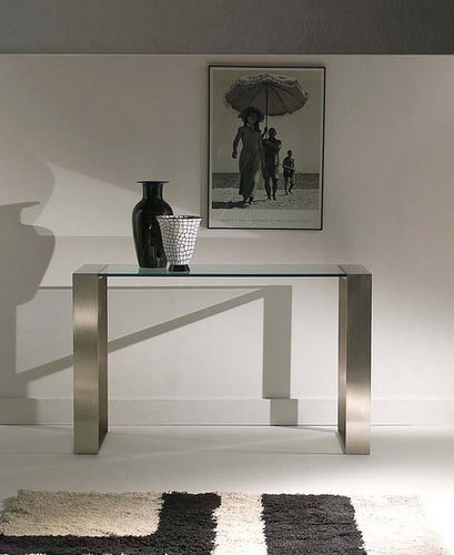 contemporary glass sideboard table RING by Mauro Lipparini ORSENIGO