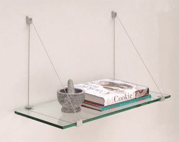 contemporary glass wall shelf 1024K  CR Laurence 