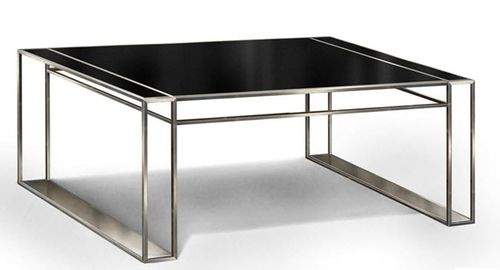 contemporary glass writing desk Noir GONZALO DE SALAS