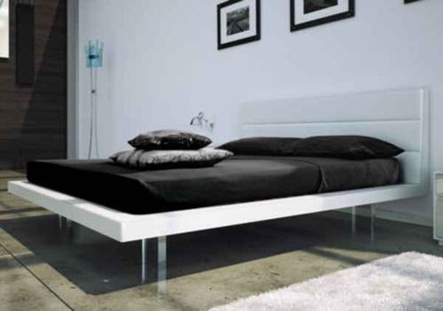 contemporary lacquered double bed SLIM mazzali spa