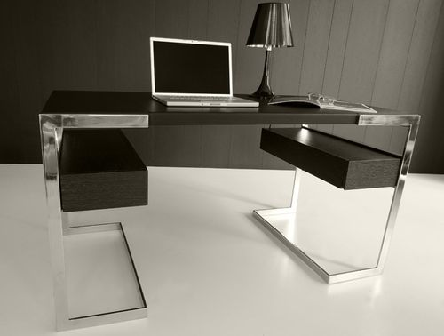 contemporary leather office desk FLORENCE SABINOAPRILE/Interior Design