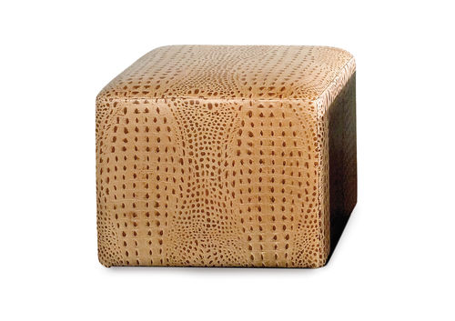 contemporary leather pouf COCCO BERTO SALOTTI