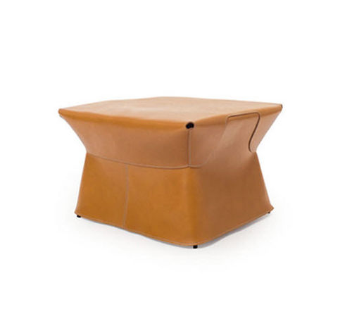 contemporary leather pouf CUIR POUF by Palomba Serafini SKITSCH