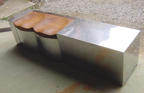 contemporary metal bench BANCO LLAVANERES ICI ET LA