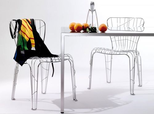 contemporary metal chair PHALÈNE by Marc Sadler Robots