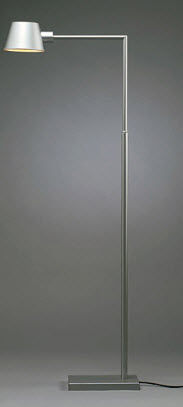 contemporary metal floor lamp TUBA by Torbjörn Eliasson BLOND