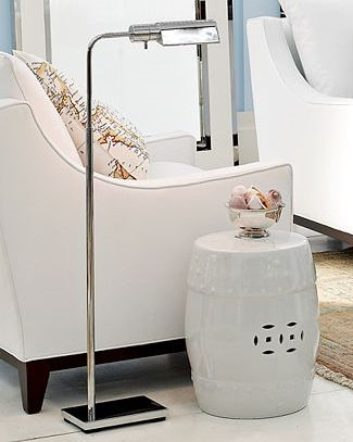 contemporary nickel floor lamp (adjustable) Williams Sonoma Home