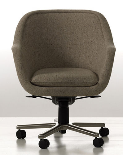 contemporary office armchair BUMPER by Ward Bennett Geiger