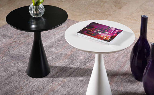 contemporary pedestal side table TWIST GUARANTEE by GIOGATZIS