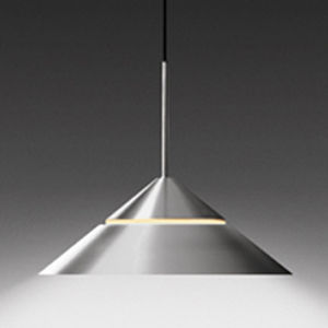contemporary pendant lamp (halogen, aluminium) GLASH&Uuml;TTE LIMBURG