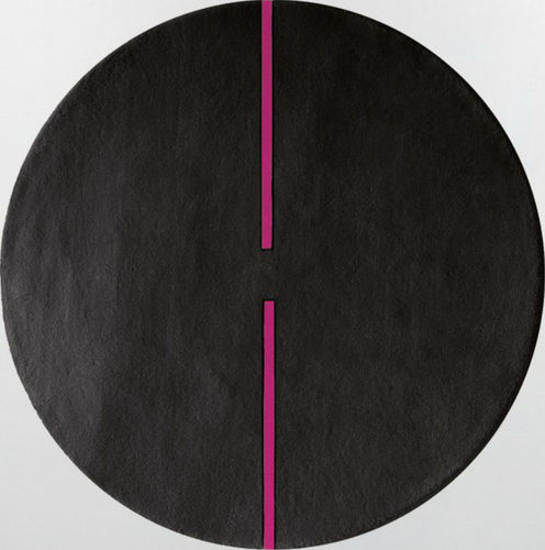 contemporary plain rug in wool (round) LIGHT SONIC By Second Studio