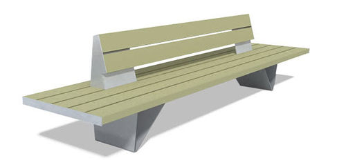 contemporary public bench in concrete and GRP BAN PRFV 3,37 M by Rubio, Carlos  DAE