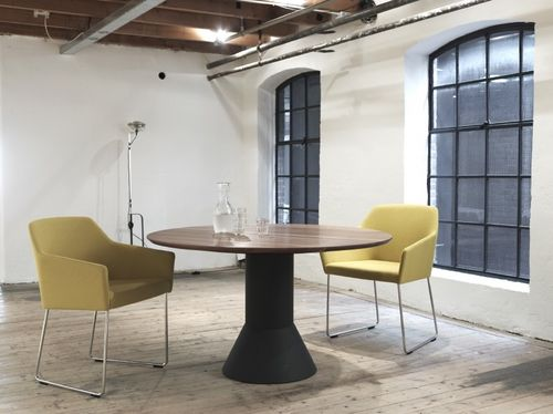 contemporary round extending table BALANCE by Arnold Merckx Arco Contemporary Furniture
