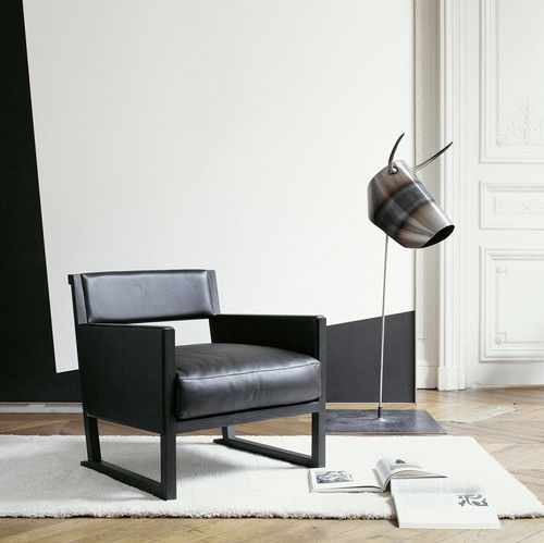 contemporary sled base armchair by Antonio Citterio MUSA MAXALTO