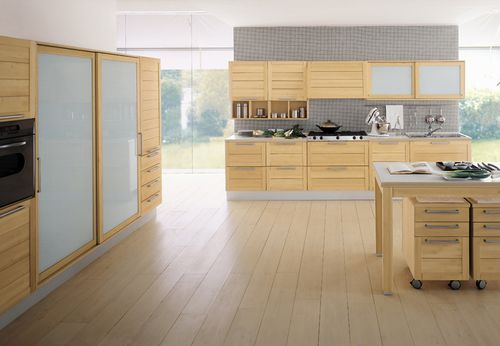 contemporary solid wood / glass kitchen ULLA I GRATTAROLA