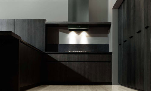 contemporary solid wood / stainless steel kitchen +03/B MVK ITALIA