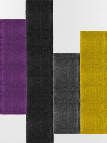 contemporary striped rug in wool (handmade) PIECES DE L.A. By Second Studio