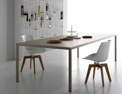 contemporary table STEEL by P & M. Cazzaniga MDF Italia