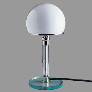 contemporary table lamp (glass) WG 24 by Wilhelm Wagenfeld  Tecnolumen