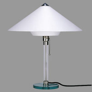 contemporary table light (cotton) WG 28 by Wilhelm Wagenfeld Tecnolumen