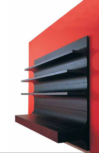 contemporary wall bookcase O+1 by Franco Poli Bernini