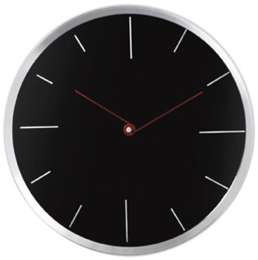 contemporary wall clock RED DIAL KARE Design