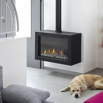 contemporary wall-mounted gas stove STANDALONE 70 Ortal USA