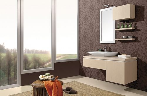 contemporary wall-mounted washbasin cabinet AKSU  ORKA