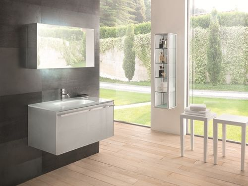 contemporary wall-mounted washbasin cabinet MIX CLASSIC COMP.09  SOLMET