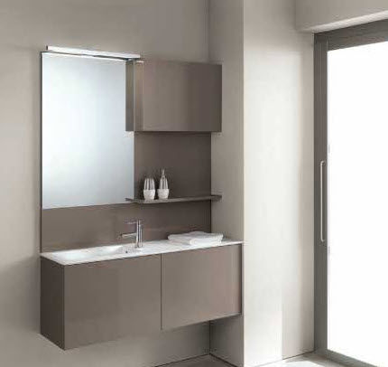 contemporary wall-mounted washbasin cabinet FLEXIA 7 Geromin
