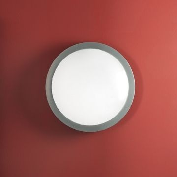 contemporary white glass wall light POOM CONTRACT: AI-PI IP54 by Roberto Favaretto  LUCENTE s.r.l.