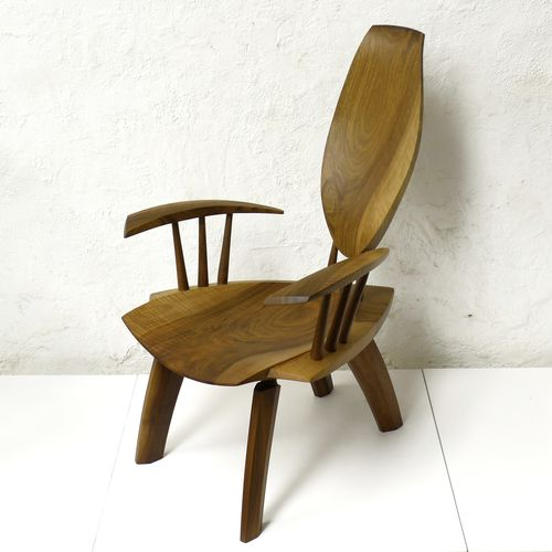 contemporary wood armchair DROP Peter Hook