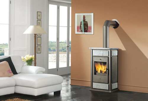 contemporary wood-burning boiler stove KLIMA BASE EDILKAMIN