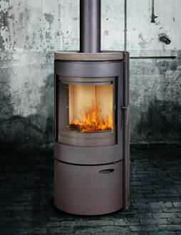 contemporary wood-burning stove 400 FLAM N' CO