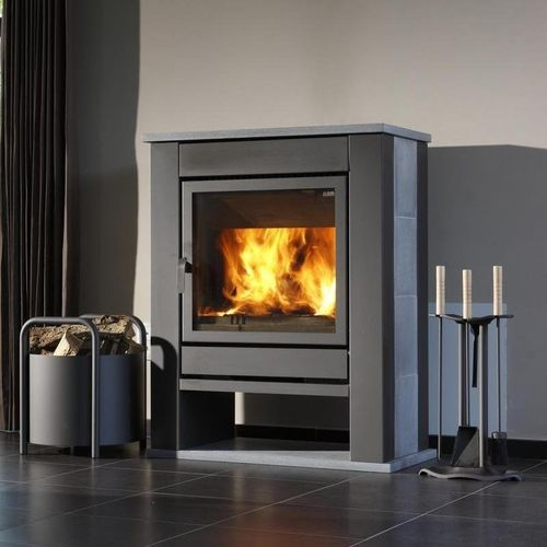 contemporary wood-burning stove (soapstone) THEATER MT 68/75  Flam