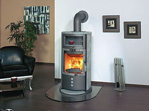 contemporary wood-burning stove (with warmer) HARK 35 B GT ECOPLUS Hark GmbH & Co. KG