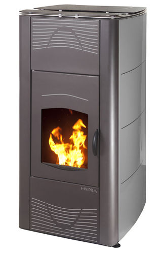 contemporary wood pellet boiler stove HYDRA 27 KW  Calux Srl