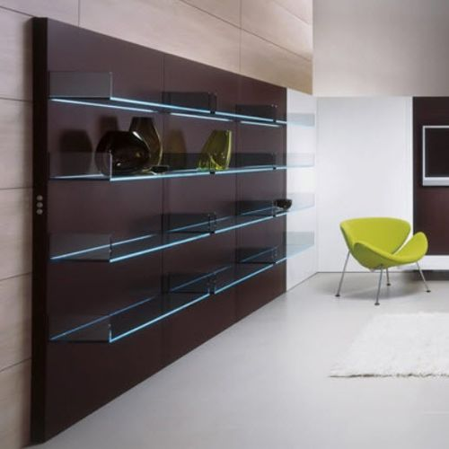 contemporary wooden and glass bookcase LIGHTERIE by Urbino&Lomazzi TONELLI Design