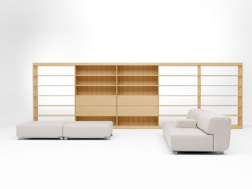 contemporary wooden bookcase L360 by Studio Pastoe pastoe