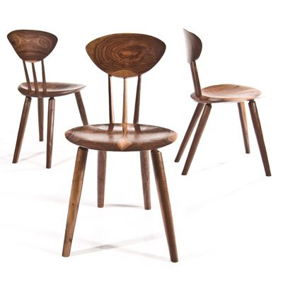 contemporary wooden chair ROUND Peter Hook
