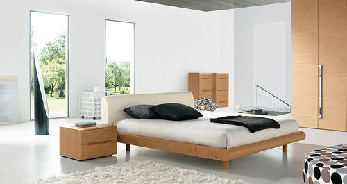 contemporary wooden double bed MODERN  Homes