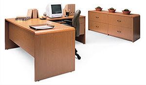 contemporary wooden office desk LAURENT GLOBAL totaloffice