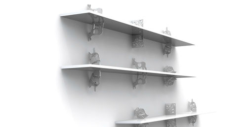 contemporary wooden wall shelf SOON Vandoma Design