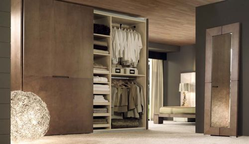 contemporary wooden wardrobe with sliding doors EROS WARDROBE Planum, Inc.