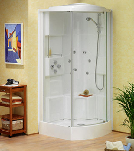 corner shower cabin with pivot door TEMPOFIT 1000X750 Roth France