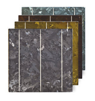 coulored polycrystalline photovoltaic cell COLOURED CELL Sunways Photovoltaic Technology