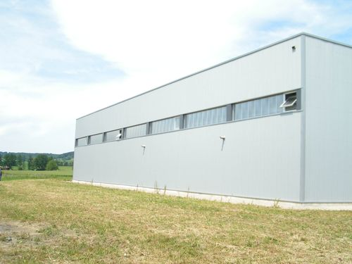 curtain wall polycarbonate sheet AKYVER PANEL® 40 Kaysersberg Plastics
